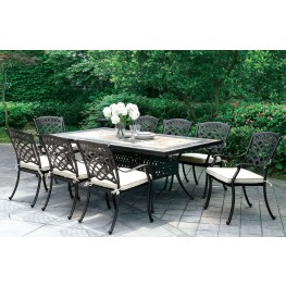 Charissa Antique Black Patio Dining Room Set