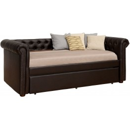 Leanna Dark Teal Twin Trundle Daybed