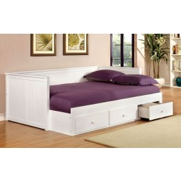 Wolford White Full Size Storage Daybed