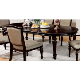 Harrington Dark Walnut Oval Extendable Leg Dining Table ...
