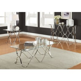 Vador Chrome Occasional Table Set