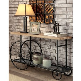 Neve Sand Black Sofa Table