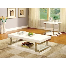 Meda White Occasional Table Set