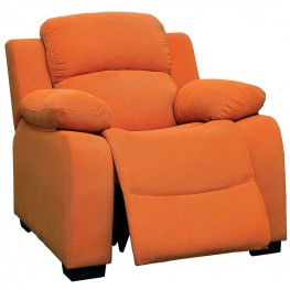 Connie Orange Kids Recliner