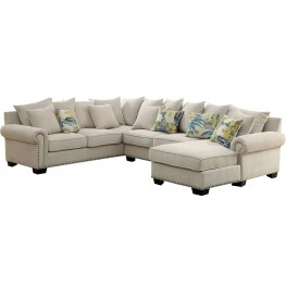 Skyler Ivory Sectional From Furniture Of America Coleman