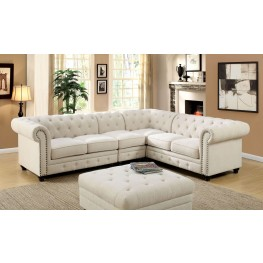 Stanford II Ivory Small Sectional