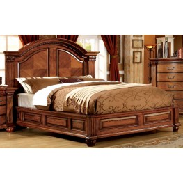 Bellagrand Antique Tobacco Oak King Bed