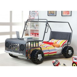 Trekker Gun Metal Twin Rover Bed
