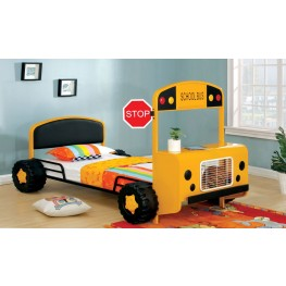 Field Tripper Yellow Metal Twin Bed