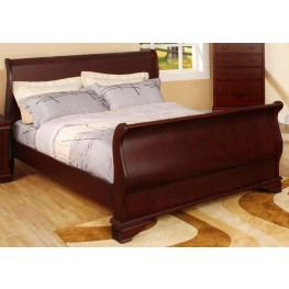 Laurelle Cherry Twin Sleigh Bed
