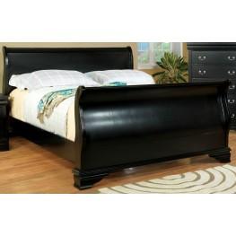 Laurelle Black Twin Sleigh Bed