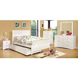 Prismo White Youth Platform Bedroom Set