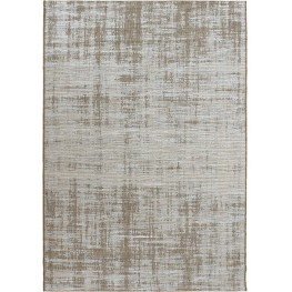 Breeze Indoor/Outdoor Solid Distressed Perfection Light Blue and Brown Large Area Rug