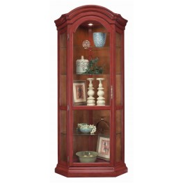 Color Time Panorama Chili Pepper Red Corner Display Cabinet