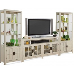 Color Time Saybrook Sandshell White Entertainment Wall