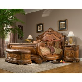 Cortina Sleigh Bedroom Set from Aico (65000) | Coleman Furniture