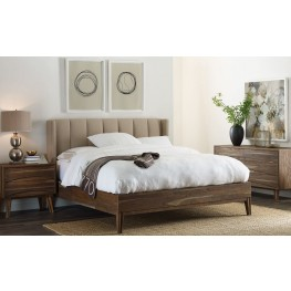 Crawford Sepia Upholstered Platform Bedroom Set