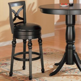 Black Bar Counter Height Pub Stool - 100279