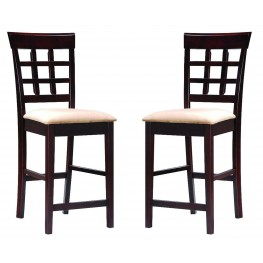 Mix & Match Walnut Wheat Back Barstool 101209 Set of 2