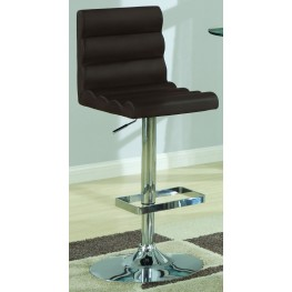 120355 Bar Units Adjustable Brown Barstool Set of 2