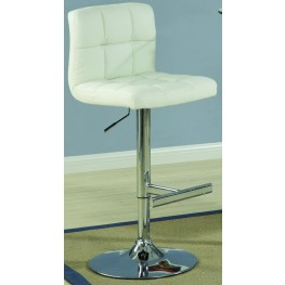 120356 Bar Units Adjustable Cream Barstool Set of 2