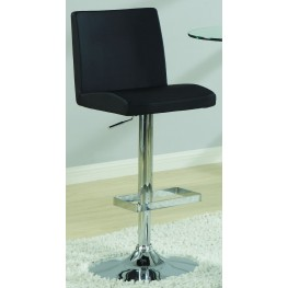 120357 Bar Units Adjustable Black Barstool Set of 2