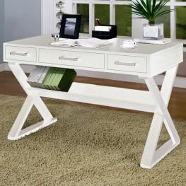 Home Office White Contemporary Desk - 800912
