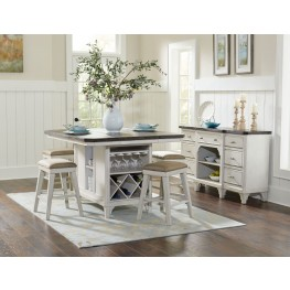 Mystic Cay Weathered Kitchen Island Set