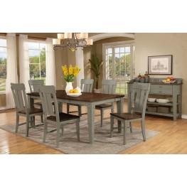 Shaker Nouveau Dark Oak Extendable Rectangular Dining Room Set