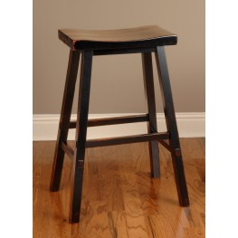 Biscayne Black 30'' Backless Bar Stool
