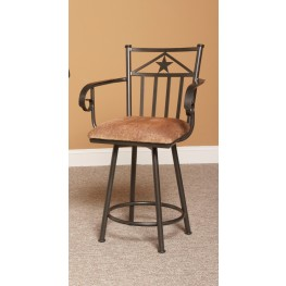 "Lancaster 24"" Swivel Counter Stool"