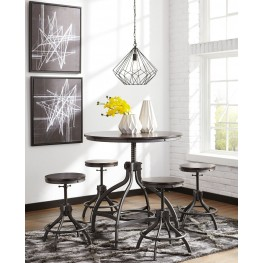 Odium Brown 5 Piece Counter Height Dining Room Set