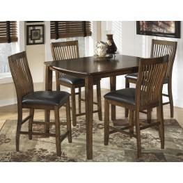 Stuman 5 Piece Rectangular Dining Room Counter Table Set