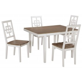 Brovada Two-Tone Rectangular 5 Piece Dining Room Set