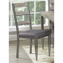 Superbe River Loft Rustic Oak And Metal Side Chair Set Of 2 ...