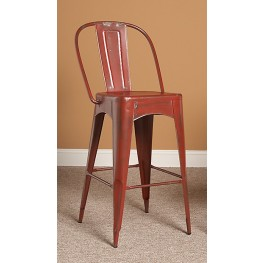 "Timbuktu 30"" Red Bar Stool"