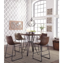 Centiar Two-Tone Brown Round Counter Height Dining Room Set