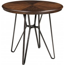 Centiar Two-Tone Brown Round Counter Height Dining Table