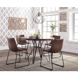 Centiar Two-Tone Brown Round Dining Room Set