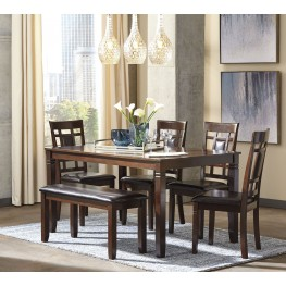 Bennox Brown 6 Piece Rectangular Dining Room Set