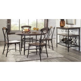 Rolena Brown Round Dining Room Set