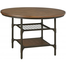 Rolena Brown Round Dining Table