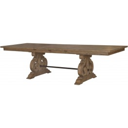 Willoughby Weathered Barley Rectangular Extendable Dining Table