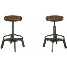 Pleasing Torjin Brown And Gray Stool Set Of 2 Inzonedesignstudio Interior Chair Design Inzonedesignstudiocom