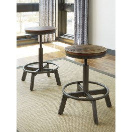 Torjin Brown and Gray Stool Set of 2
