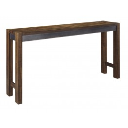 Torjin Brown and Gray Long Counter Height Dining Table