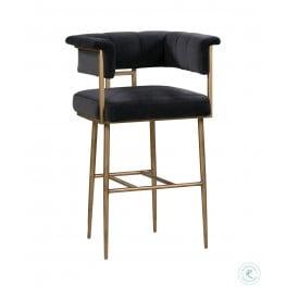 Groovy Astrid Grey Velvet Bar Stool Dailytribune Chair Design For Home Dailytribuneorg