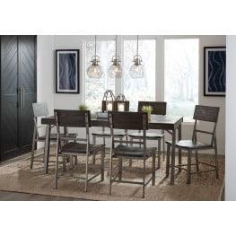 Raventown Grayish Brown Rectangular Dining Room Set