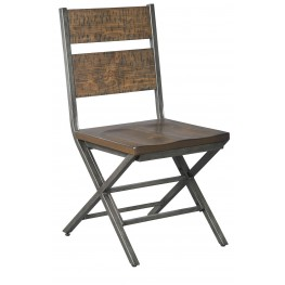 Kavara Medium Brown Side Chair Set of 2