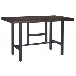 Kavara Medium Brown Rectangular Counter Dining Table